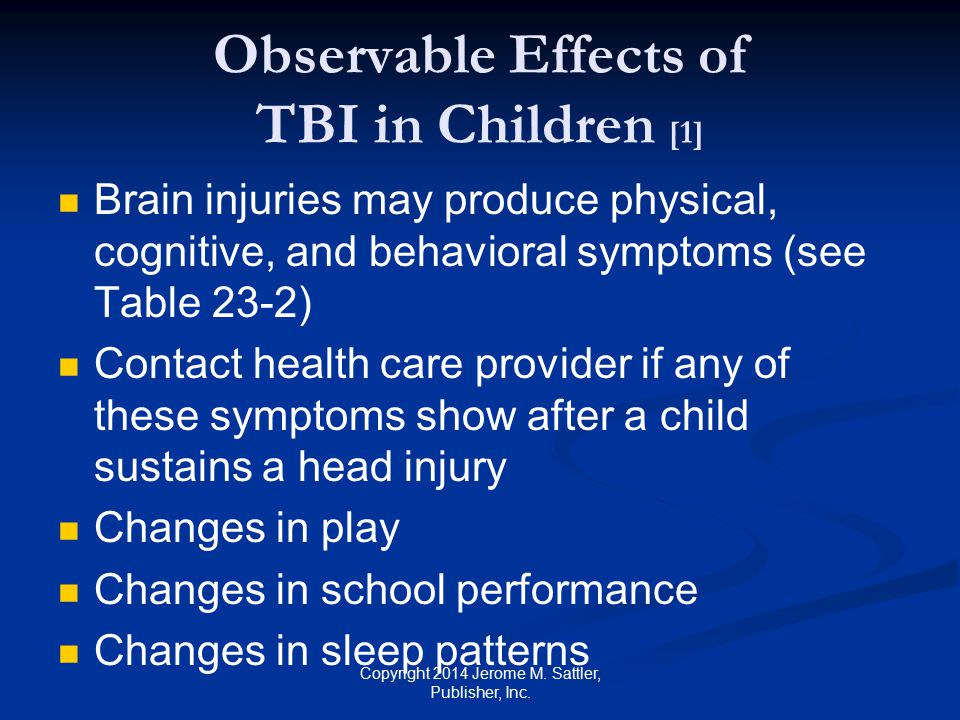 Observable Effects of TBI in Children [1]